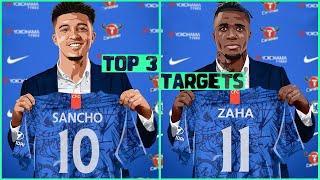 TOP 3 CHELSEA Transfer Targets 2020! January TRANSFER News ft. Sancho & Zaha