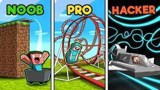 Ultimate Roller Coaster! (Noob vs Pro vs Hacker)