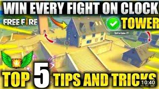Clock Tower HIDE place in freefire! Top 10 Hide place in Bermuda! rank push tips! Game knowledge