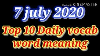 Vocabulary top 10 word meaning
