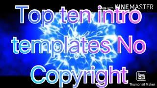 Top 10 ten intro templates No Copyright 2020 // Best end screen