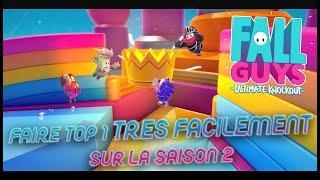 Fall Guys - TUTO : FAIRE UN TOP 1 TRES FACILEMENT SUR LA SAISON 2 (Astuces & Conseils Season 2)