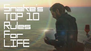 Snake's TOP 10 Rules for Life (Top 10 Life Lessons from Metal Gear Solid)|ft. Jocko Willink