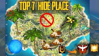 TOP 7 HIDE PLACE [YOU NEVER KNOW] FREE FIRE BEST HIDE PLACE||RANK PUSHING TIPS AND TRICKS IN TAMIL||