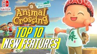 Top 10 MOST EXCITING New Features in Animal Crossing New Horizons!