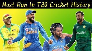 Top 10 Batsmen Most Runs In T20 Cricket History || Cricket Records || Cricket Batting Statistics