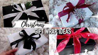 8 SIMPLE & BEAUTIFUL CHRISTMAS GIFT WRAP IDEAS! | AFFORDABLE WAYS TO MAKE YOUR GIFTS LOOK EXPENSIVE!