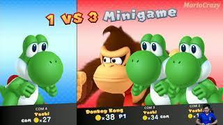 Mario Party 10 Amiibo Party - Donkey Kong Amiibo vs 3 Player Yoshi Amiibo | MARIO CRAZY