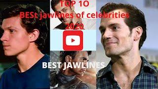 TOP 10 BEST JAWLINES OF FAMOUS CELEBRITIES (2020). WATCH TILL THE END!!