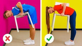 IMPOSSIBLE TRICKS 98% OF PEOPLE FAIL || Best Tik Tok Challenges! Viral Chair Challenge