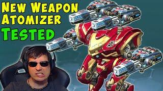 NEW Weapon ATOMIZER Tested GAMEPLAY - War Robots Test Server WR