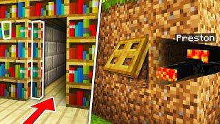 Top 10 SECRET Entrances Noob1234 Will Never Find! (Preston Minecraft)