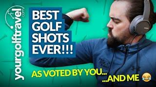 BEST GOLF SHOTS EVER: My Best Shots on Youtube as Voted by YOU!! [+ Course Vlog Highlights]