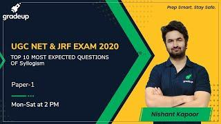 TOP 10 MOST EXPECTED QUESTIONS OF SYLLOGISM for UGC NET | MHSET | KSET | Gradeup | Nishant Kapoor