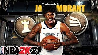 NBA 2K21 - Most OFFICIAL JA MORANT Slashing PG Build / 59 Badges
