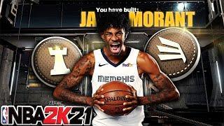 NBA 2K21 - Most OFFICIAL JA MORANT Slashing PG Build / 59 Badges