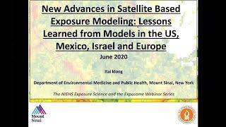 Part 29 - The NIEHS Exposure Science and the Exposome Webinar Series - Dr. Itai Kloog