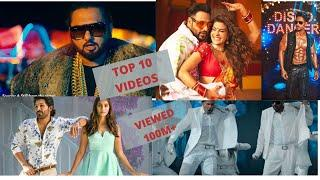 top 10 video songs viewed in youtube  100m+ in this month