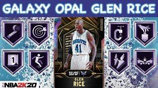 GALAXY OPAL 12-0 REWARD GLEN RICE GAMEPLAY! HE HAS THE BEST RELEASE IN NBA 2K20 MYTEAM!