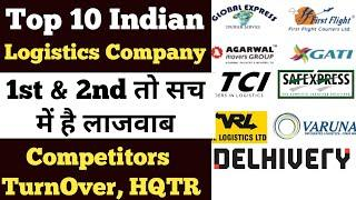 Top 10 Largest Logistics Company Of India | Largest Truck Owner | Top 10 Hindi | 2020 | With CC