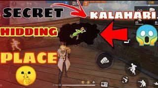 Top 1 Hidding Place In Kalahari Map Free Fire - GAME SHAME