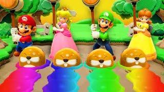 Super Mario Party - Minigames - Peach vs Mario vs Luigi vs Daisy (Master CPU)