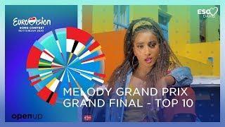 My Top 10 ● Melody Grand Prix (Final)