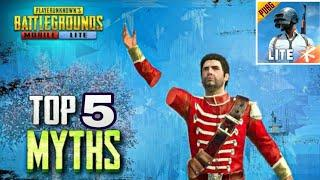 Top 5 myths in pubg lite | Tips and tricks in pubg lite | Pubg lite typical