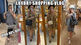 COME LUXURY SHOPPING WITH ME | DIOR SALE 40% OFF | Hermes, Chanel, Louis Vuitton, Prada