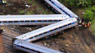 Top 10 Extreme Dangerous Train Hit Cows & Truck/ Truck Fails/ Truck Crossing River