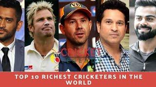 top 10 richest cricketers in world's  Richest crickets in our country best cricketer in the world's
