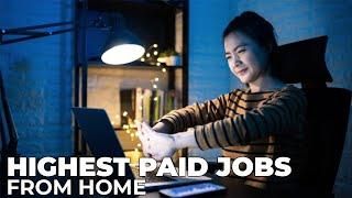 Work from home jobs - How to make money online - Top 10 Highest Paid Jobs in 2020