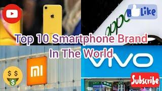 Top 10 Smartphone Brand In The World   By Market Share