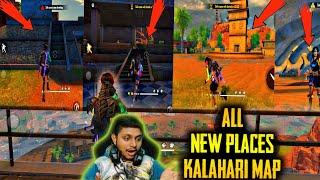 """ALL  NEW PLACES OF """"KALAHARI MAP"""" - IN ONE VIDEO  - Garena Free Fire // Gamers Zone"""