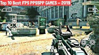 Top 10 Best PPSSPP (PSP) First Person Shooting (FPS) Games  For Android   All TESTED