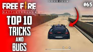 Top 10 New Tricks In Free Fire | New Bug/Glitches In Garena Free Fire #65
