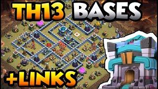 TOP 10 TOWN HALL 13 WAR BASES OF 2020 WITH LINKS - COC BEST TH13 BASE WITH LINK - TH13 WAR CWL BASE