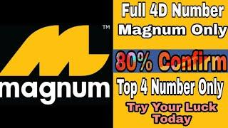 Magnum Top 4 Pair Number ||Best Winning Number only magnum 4d||Lucky Number Magnum 4d||✌✌
