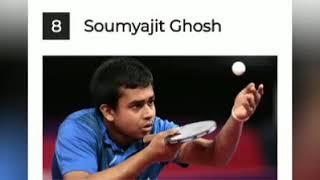 Top 10 famous table tennis player in india