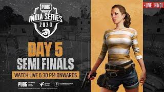 [Hindi] PMIS Semi-Finals - Day 5   PUBG MOBILE India Series 2020 #PUBGM #PMIS2020