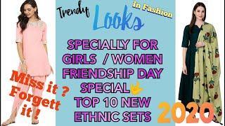 women dresses , Women kurti design , women dressing style , TOP 10 TRENDING KURTA PANT SET FOR WOMEN