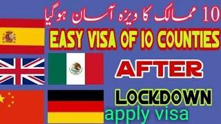Easy visa of10 countries after lockdown/easy schengen visa 2020/Top 10 countries/easy visa countries
