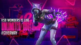 PUBG MOBILE LIVE UNLIMITED CUSTOM ROOMS #giveaway    POCO F1    Stream#92