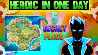 Top 5 Hidden Place - How To Push Rank in Free Fire - Top Hinding Place in Bermuda Map