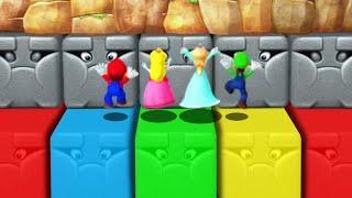 Mario Party 10 - Mario vs Peach vs Luigi vs Rosalina (Master CPU) Minigames