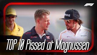Top 10 Pissed at Magnussen Team Radio (4K) | F1 2017-19