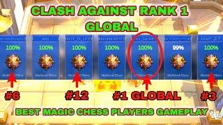BATTLE VS. RANK 1 GLOBAL - BEST MAGIC CHESS SYNERGY | Mobile Legends Bang Bang