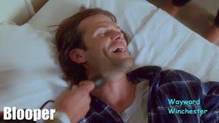 Misha Pranks Sleeping Jared & Jared LOSES IT! - Supernatural Season 15 GAG REEL VS Actual Scenes