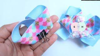 Amazing Ribbon Bow - Hand Embroidery Works - Ribbon Tricks & Easy Making Tutorial #101