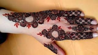 VERY BEAUTIFUL LATEST FLORAL ARABIC HENNA MEHNDI DESIGN FOR FRONT HAND